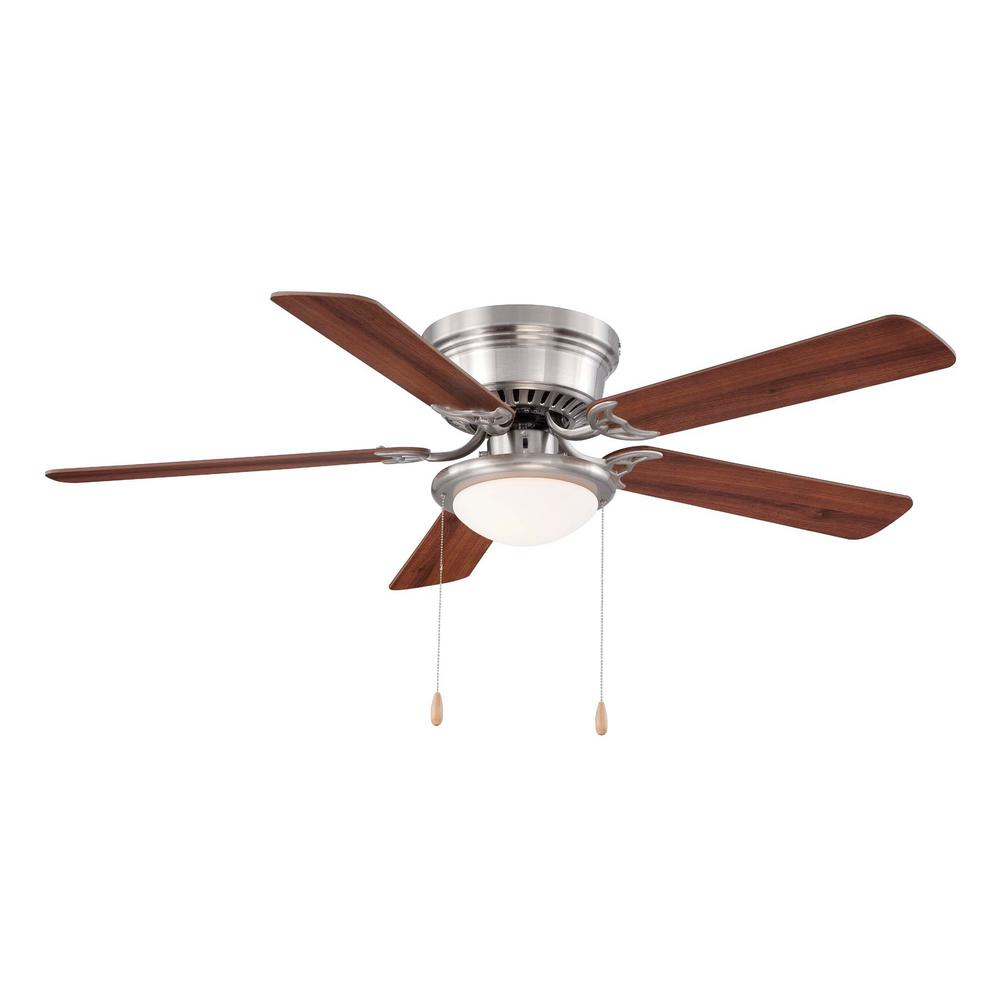 Hugger AL383LED-BN 52 in. LED Indoor Brushed Nickel Ceiling Fan 1002269802