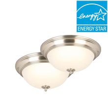 "Load image into Gallery viewer, (2-PACK) CE JAL8011L/BN 13"" Brushed Nickel LED Flushmount 1001720499"