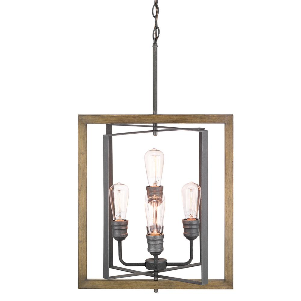 HDC 7966HDCGIDI Palermo Grove 5-Light Gilded Iron Pendant 1003158604