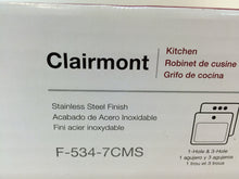 Load image into Gallery viewer, Pfister F-534-7CMS Clairmont Pull-Out Sprayer Kitchen Faucet Stainless Steel