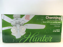 Load image into Gallery viewer, Hunter 52072 Channing 52 in. Indoor White Ceiling Fan with Light Kit
