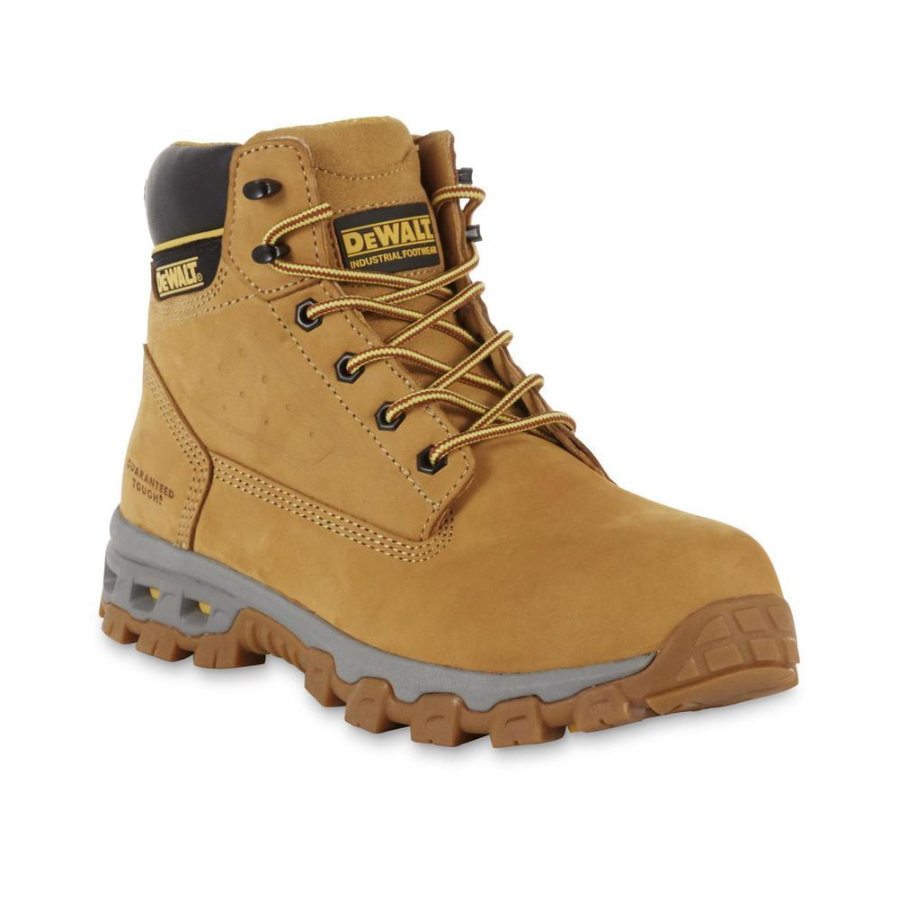 DEWALT Halogen Men's Size 9 Wheat Nubuck Leather Steel Toe 6 in. Work Boot