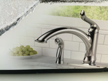 Load image into Gallery viewer, Delta 4453-DST Linden 1-Handle Standard Kitchen Faucet w/ Side Sprayer, Chrome