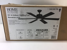 "Load image into Gallery viewer, HDC 14636 Renwick 54"" Integrated LED Oil Rubbed Bronze Ceiling Fan 1002630739"