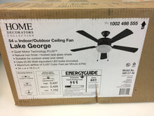 "Load image into Gallery viewer, HDC AM127-NI Lake George 54"" LED Natural Iron Ceiling Fan 1002498555"