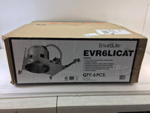 "Load image into Gallery viewer, EnviroLite EVR6LICAT 6"" LED Recessed Housing New Construction Can (6-Pack)"