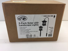 Load image into Gallery viewer, Hampton Bay 27929 Solar Black LED Diamond Shepard Hook Path Light 1000554969