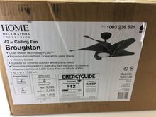 "Load image into Gallery viewer, HDC YG671-EB Broughton 42"" LED Espresso Bronze Ceiling Fan 1003236521, NOB"