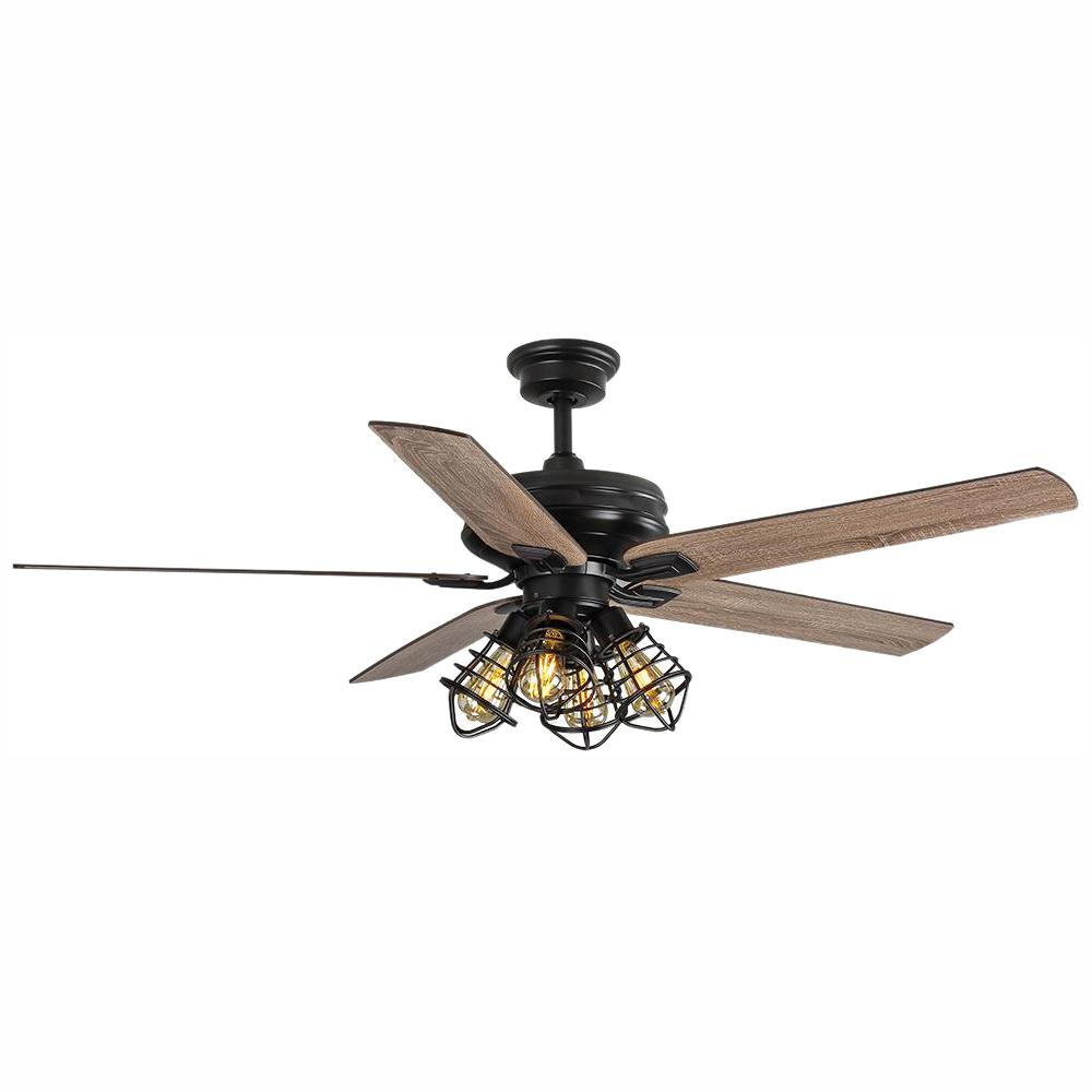 HDC 51760 Carlisle 60 in. LED Matte Black Ceiling Fan 1002948023