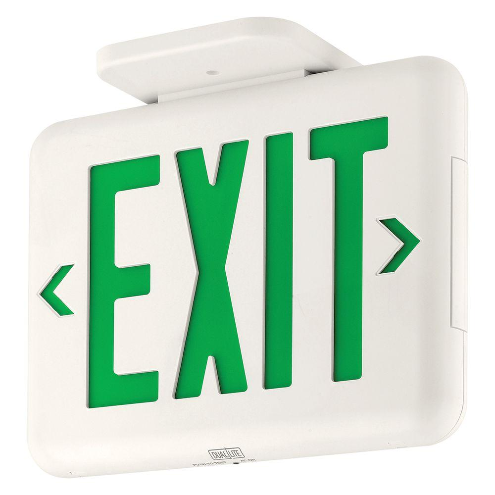 Dual-Lite EVEUGWE Thermoplastic LED Emergency Exit Sign
