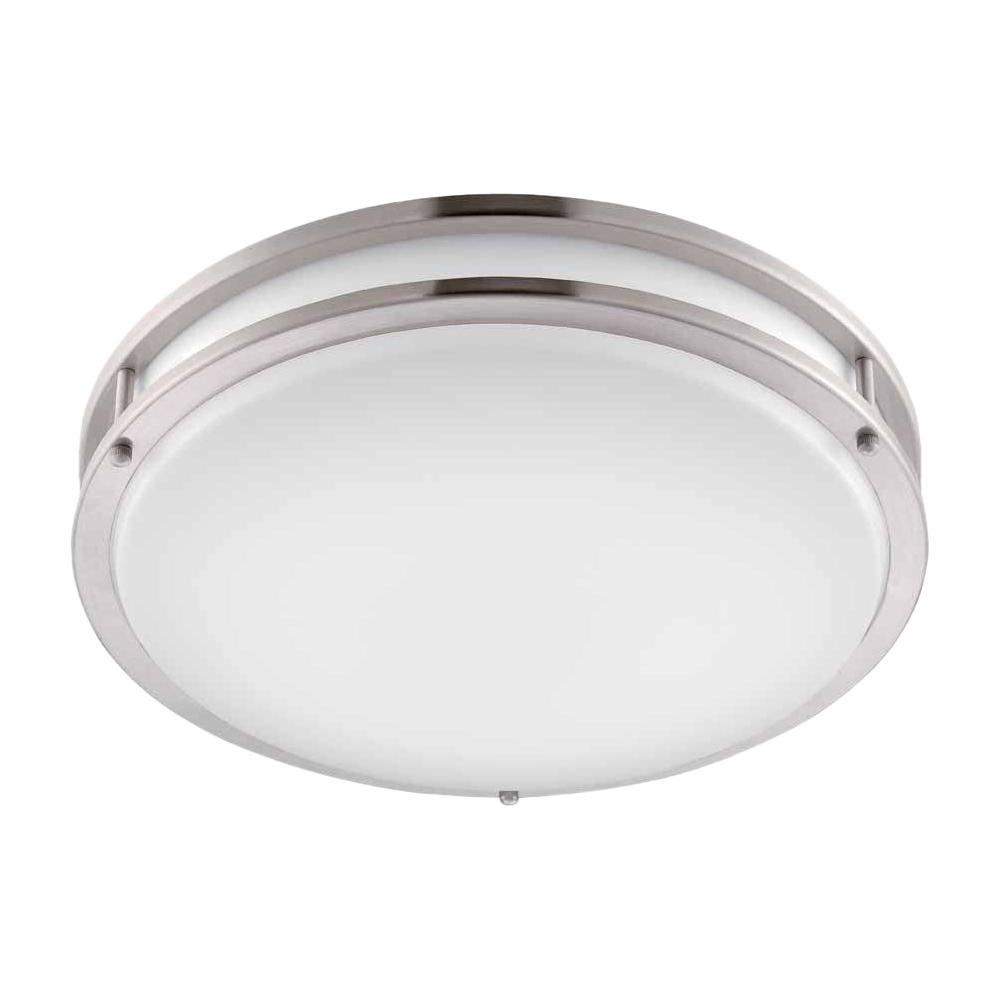 Hampton Bay DC016LEDB Brushed Nickel LED Round Flush Mount 1000021219