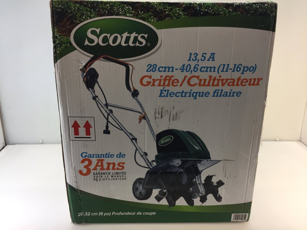 Scotts TC70135S 16in.W 13.5 Amp Corded Electric Tiller Cultivator
