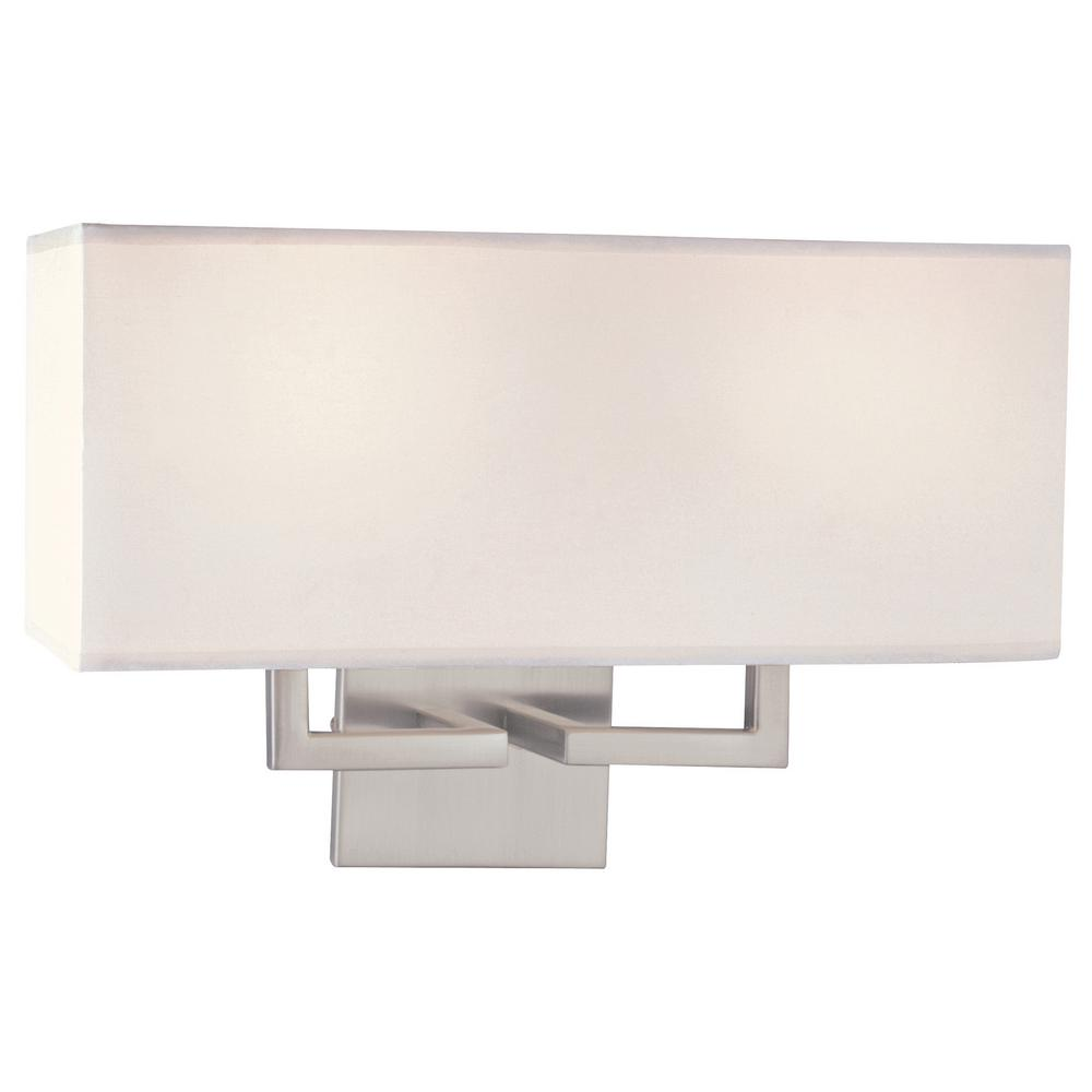 George Kovacs 2-Light Brushed Nickel Wall Sconce P472-084