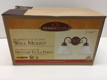 Load image into Gallery viewer, Design House 514471 Millbridge 2-Light Oil Rubbed Bronze Wall Mount Sconce