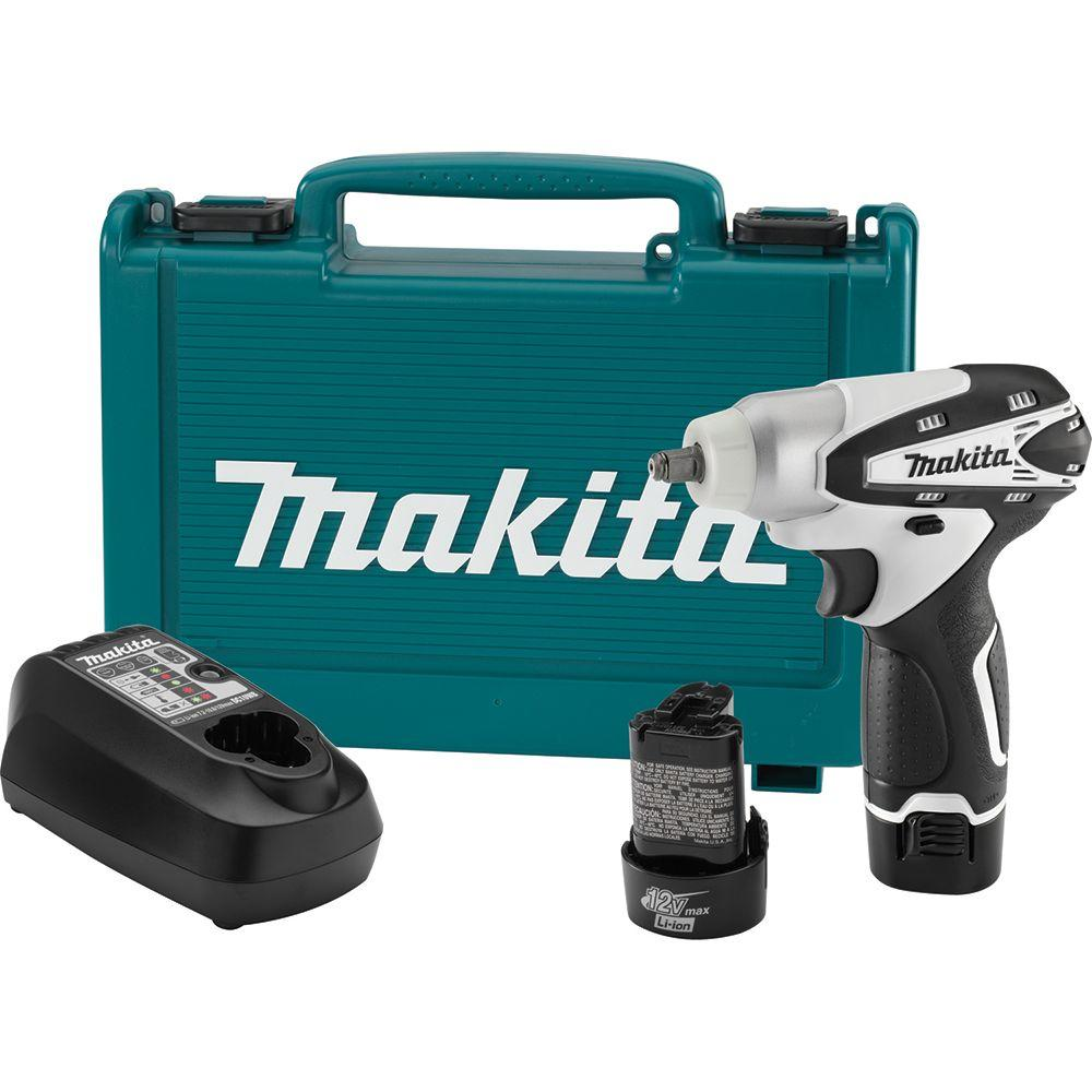 Makita WT01W 12V Max Li-Ion 3/8 in. Cordless Square Drive Impact Wrench Kit