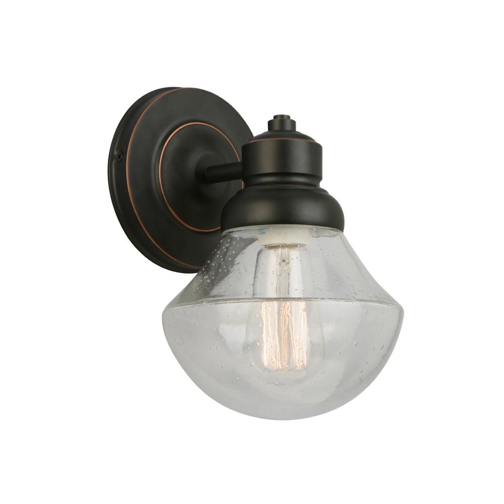 Design House 577858 Sawyer 1-Light Oil Rubbed Bronze Wall Sconce