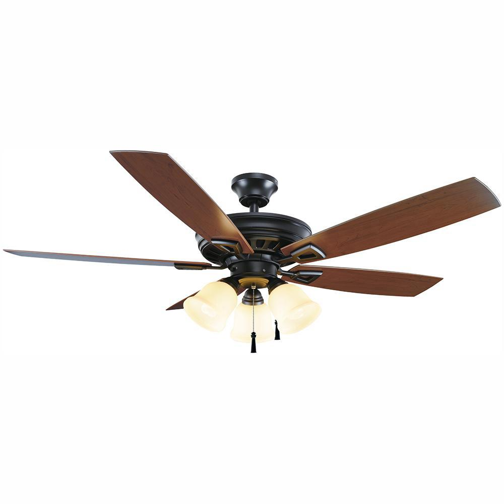 HDC 51552 Gazelle 52 in. LED Indoor/Outdoor Natural Iron Ceiling Fan 1002712422