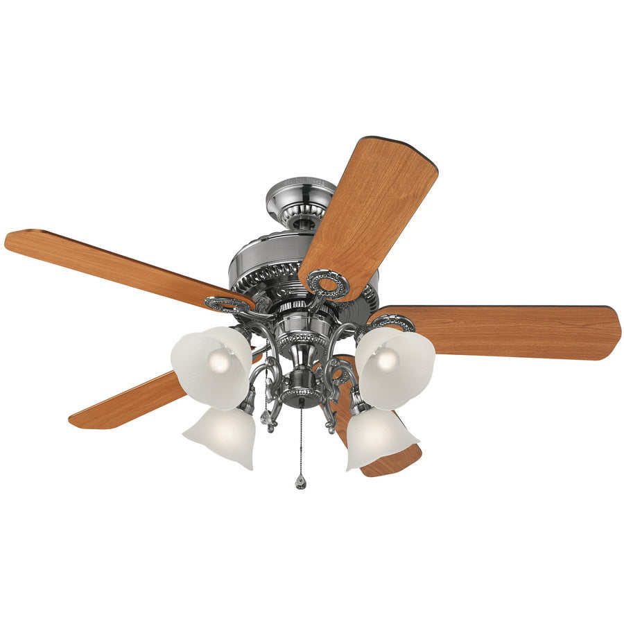 Harbor Breeze L2P1 Edenton 52-in Polished Pewter Indoor Ceiling Fan 331107