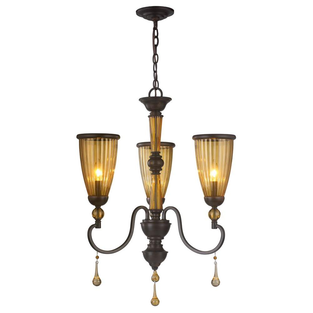 World Imports WI61025 3-Light Oil-Rubbed Bronze Chandelier