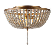 "Load image into Gallery viewer, JONATHAN Y JYL9019A Allison 15"" Wood Beaded Metal LED Flush Mount"