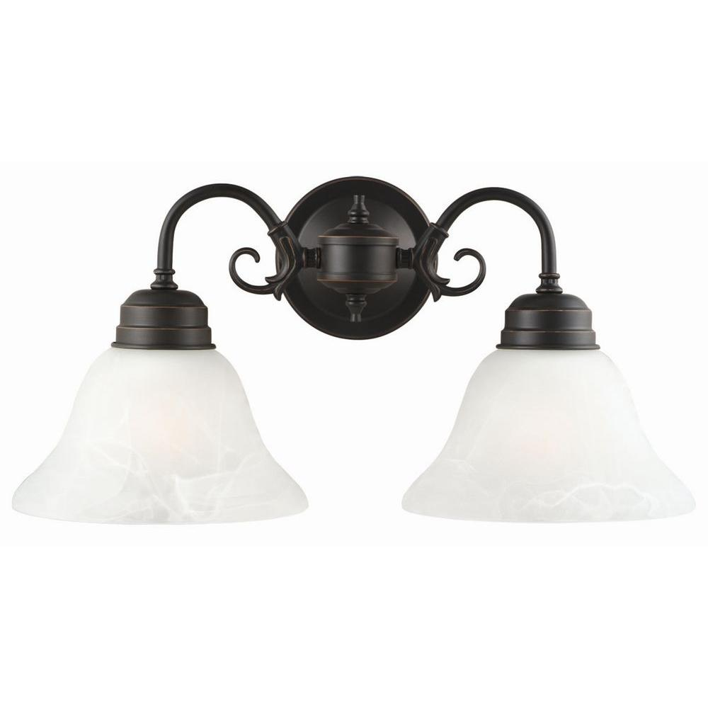 Design House 514471 Millbridge 2-Light Oil Rubbed Bronze Wall Mount Sconce