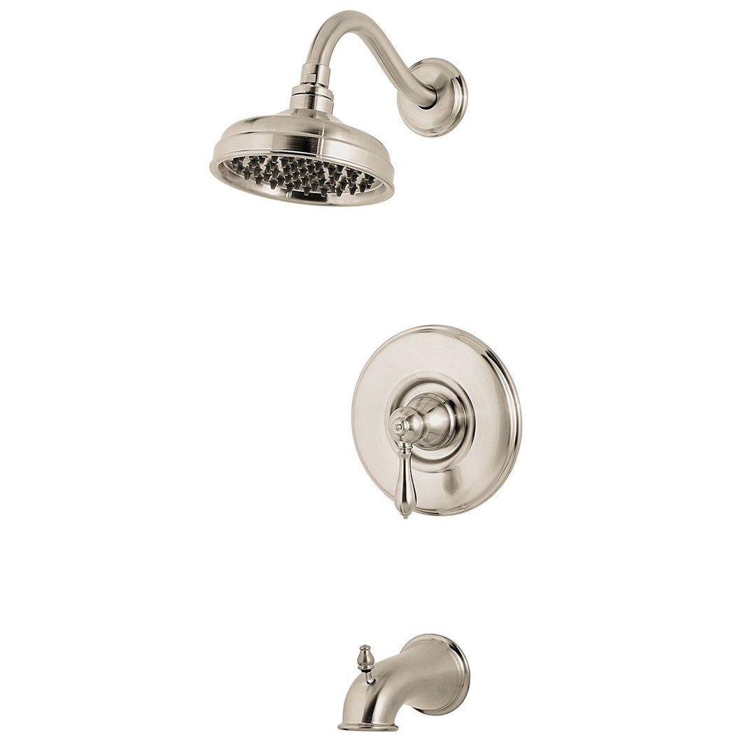 Pfister R89-8MBK Marielle 1-Handle Tub & Shower Trim, Brushed Nickel