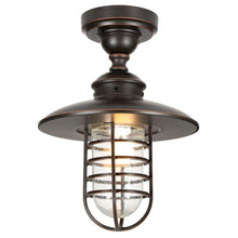 Load image into Gallery viewer, Hampton Bay DYX1701A Dual-Purpose 1-Light Hanging Oil-Rubbed Bronze Pendant