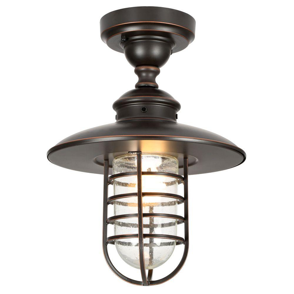 Hampton Bay DYX1701A Dual-Purpose 1-Light Hanging Oil-Rubbed Bronze Pendant