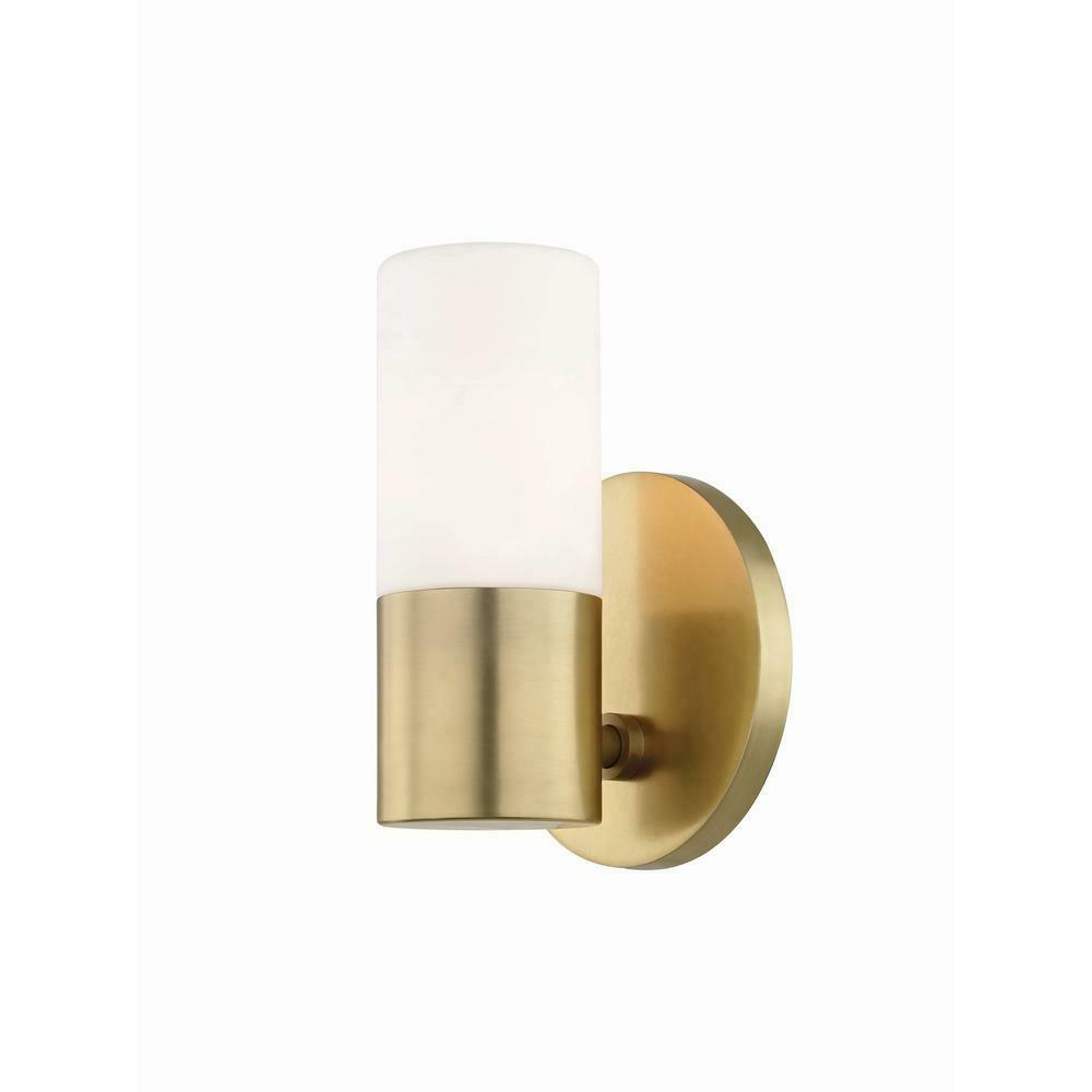 Mitzi Hudson Valley Lighting H196101-AGB Lola 1-Light Aged Brass LED Wall Sconce