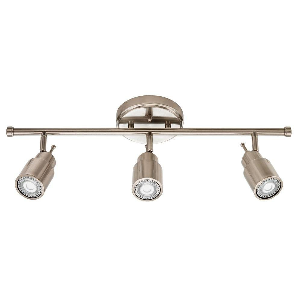 Lithonia Lighting LTFSTCYL MR16GU10 3-Light Track Lighting Kit, Brushed Nickel