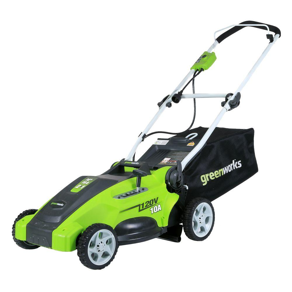 Greenworks GW25142 16 in. 10 Amp Corded Electric Walk Behind Push Mower NOB