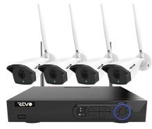 Load image into Gallery viewer, Revo Wireless HD 4-Channel 5MP 1TB Smart NVR Surveillance System with 4 Cameras