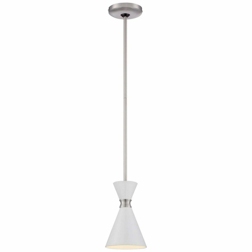 George Kovacs P1821-44F Conic Brushed Nickel One-Light Mini-Pendant
