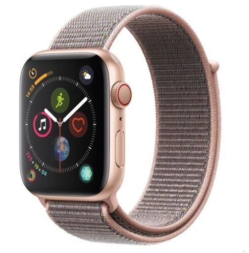 Apple Watch Series 4 MTV12LL/A 44mm Gold Aluminum Case GPS + Cellular Pink Sand
