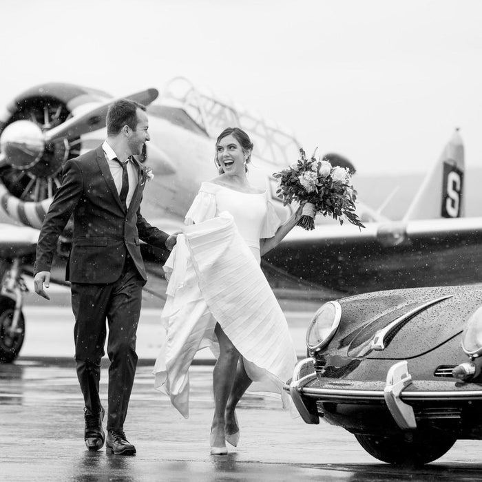 An Awesome Aviation-Themed Wedding