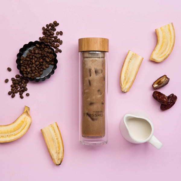 Banoffee Pie smoothie in a Fressko flask