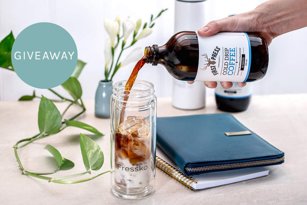 reusable cup, coffee, giveaway, Fressko, cold drip