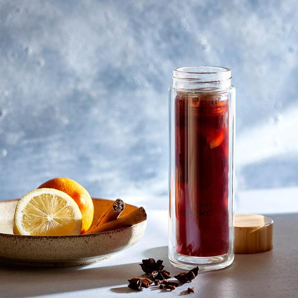 Mulled wine in fressko glass TOUR flask