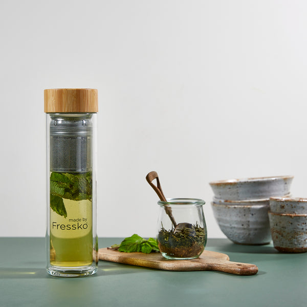 Moroccan Style Mint Tea in glass Fressko LIFT flask