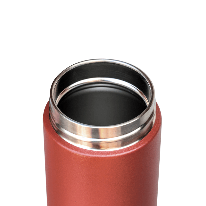 Clay flask, stainless steel bottle, lightweight, red flask, drink bottle