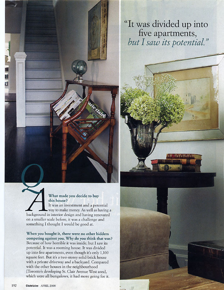 Châtelet Home featured in Chatelaine Magazine