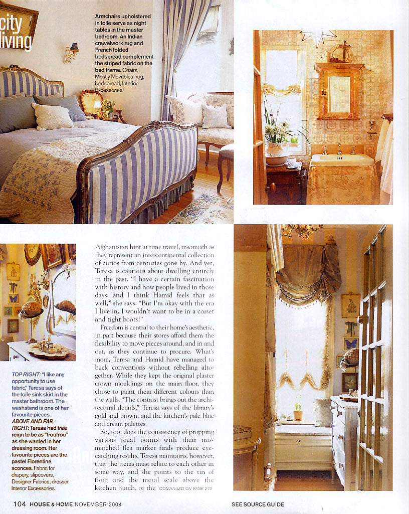 Châtalet Home featured in House & Home Magazine