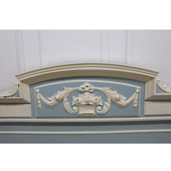 blue and white antique French bed chatelet toronto