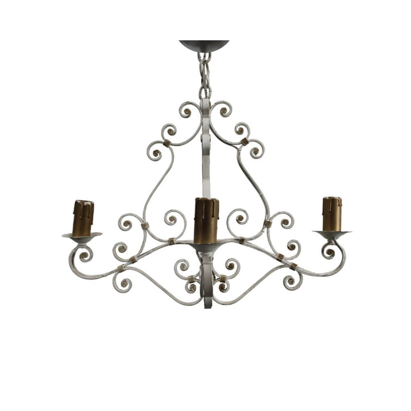 Châtelet French Wrought Iron Chandelier