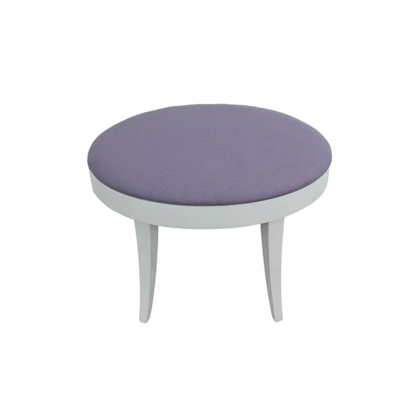 Châtelet Oval Stool with Lilac Seat