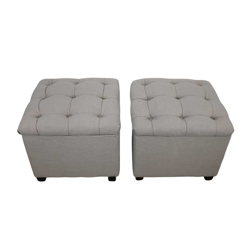 Châtelet Pair of Storage Ottomans