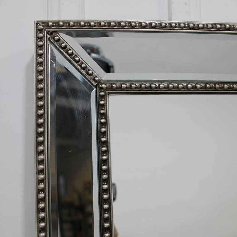 Châtelet Silver Floor Length Mirror with Beaded Detail