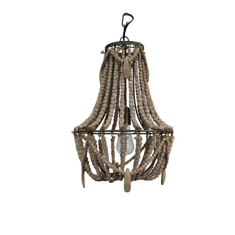 Châtelet Boho Wooden Beads Chandelier