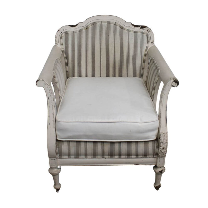 Châtelet Toronto Armchair with Distressed Cream Coloured Frame
