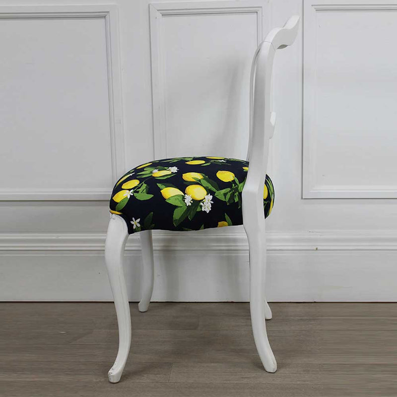 Châtelet Curvy Chair with Lemon Fabric Seat